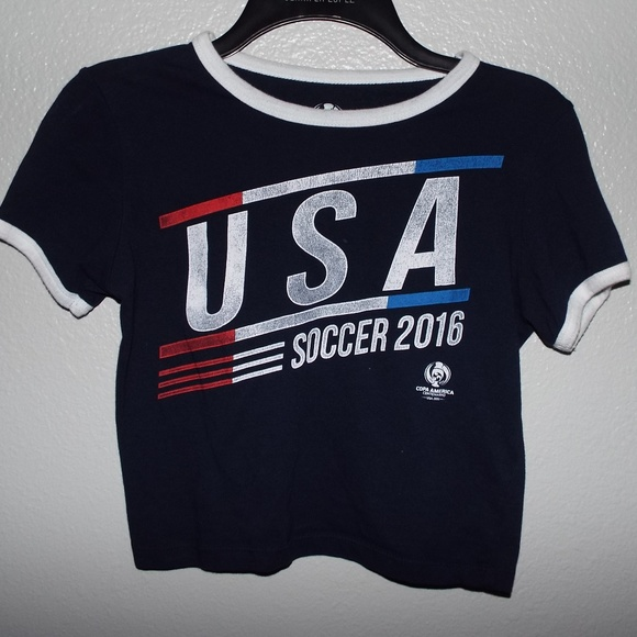 Forever 21 Tops - USA Soccer Navy Crop Top